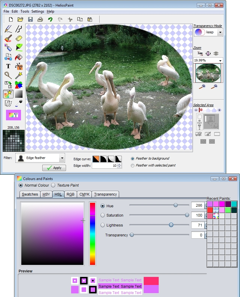 Click to view HeliosPaint 1.6 screenshot